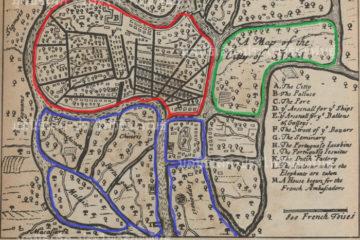 Mapa de Ayutthaya del s. XVII