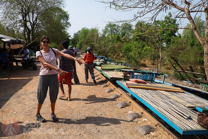 El famoso tren de bambú de Battambang