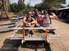 Battambang con mochila, templos, ruinas y tren de bambú