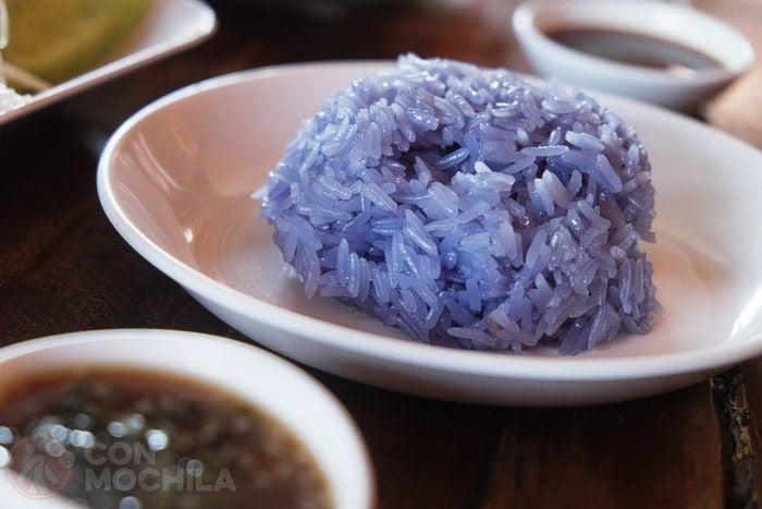 Sticky rice azul