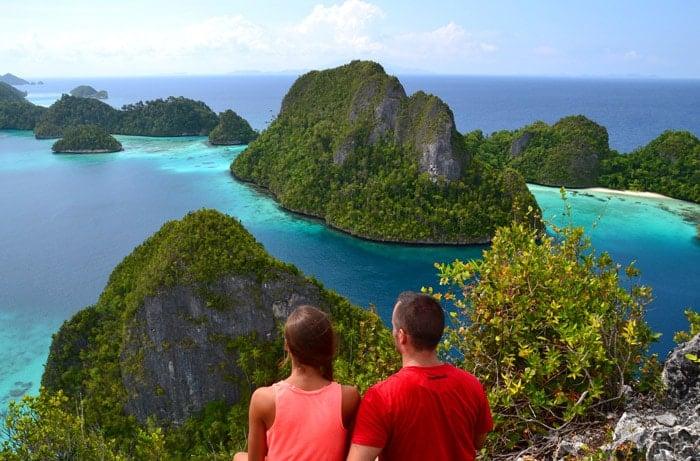 Itinerario de viaje a Indonesia: Espectaculares vitas de Wayag, en el norte de Raja Ampat (Indonesia)