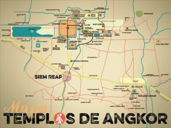 Mapa Templos de Angkor