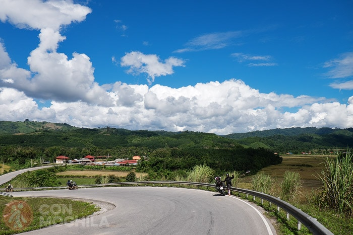 El bonito paisaje entre Huay Xai y Luang Namtha