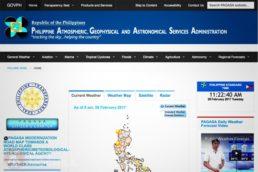 Web PAGASA Filipinas