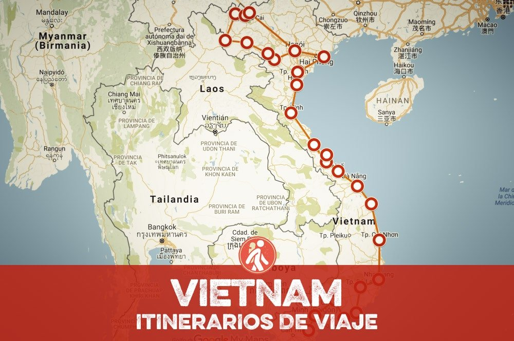 Itinerarios de viaje a Vietnam para mochileros o viajeros