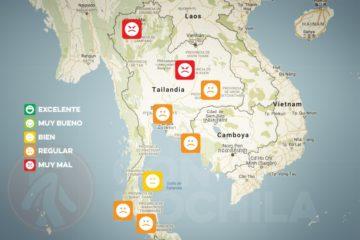 El tiempo y el clima de Tailandia en AGOSTO