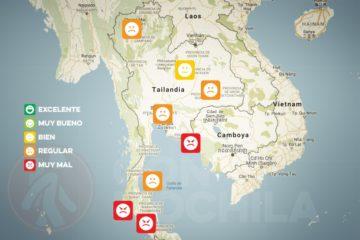 El tiempo y el clima de Tailandia en OCTUBRE