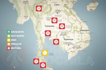 El tiempo y el clima de Tailandia en SEPTIEMBRE