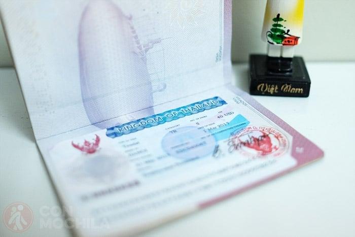 El visado de Tailandia