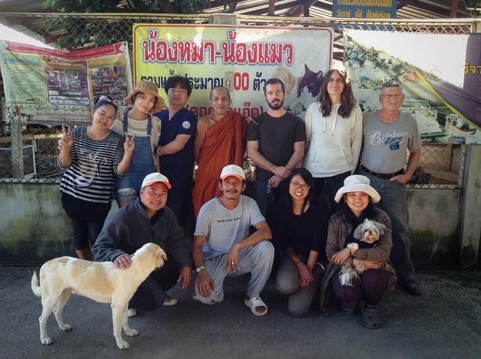 El equipo de Santisook en la provincia de Chinang Mai haciendo CES