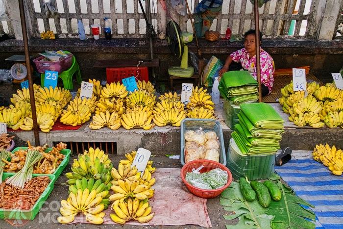 Productos frescos en un mercado de Chiang Mai