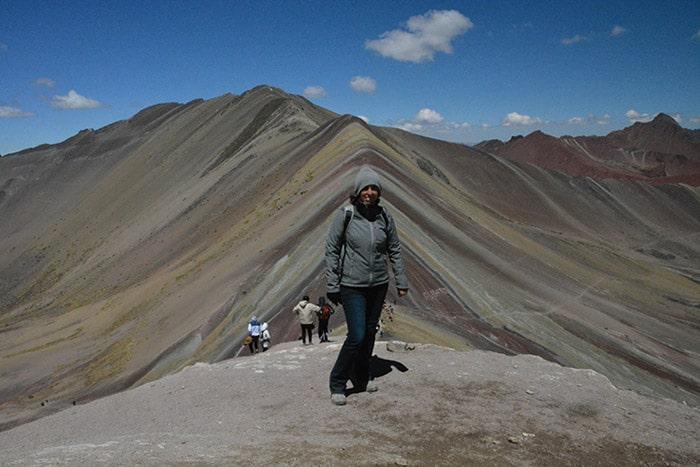 El Cerro de Colores (a 5.200 metros) es uno de los paisajes más espectaculares de Perú