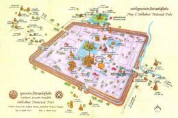 Mapa Sukhothai historical park