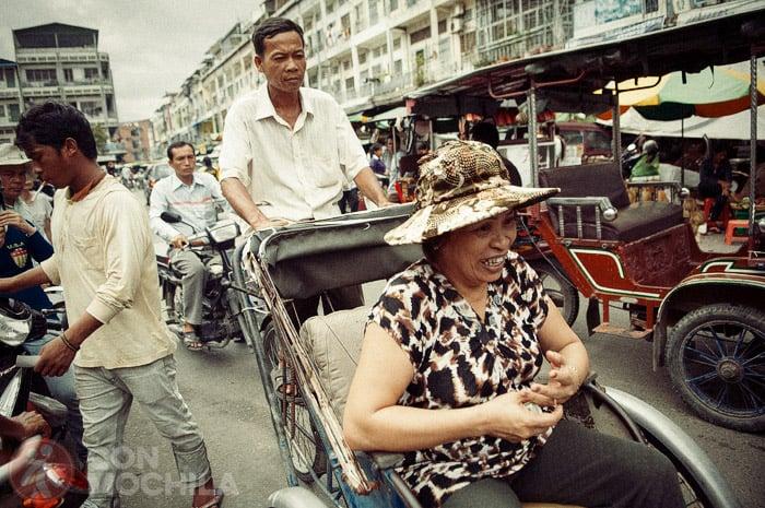 Una calle de Phnom Penn