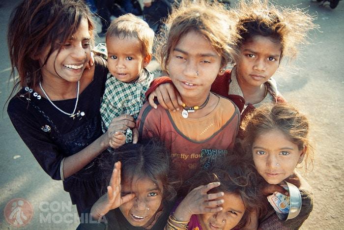 Niños de la calle en India