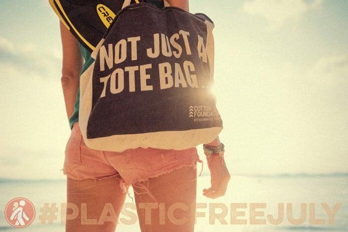 Llévate una bolsa de tela