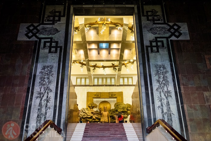 Espectacular acceso a una de las salas del museo