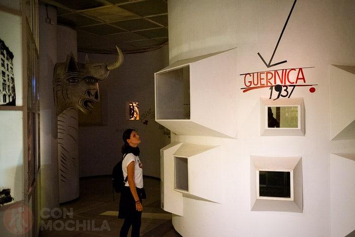 Zona dedicada al bombardeo de Guernica