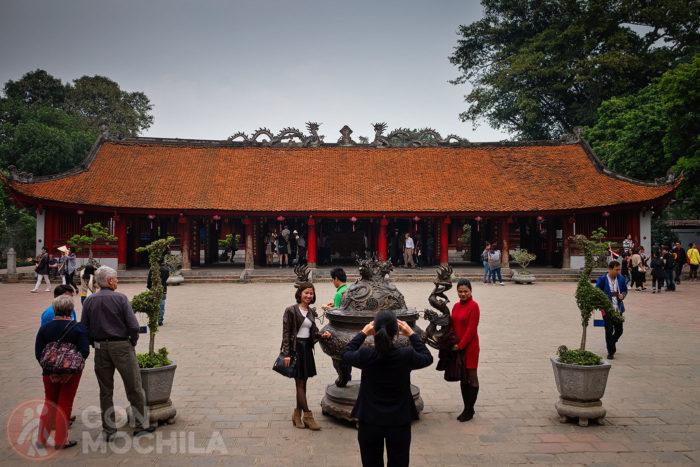 Cuarto patio con la Casa de Ceremonias al fondo