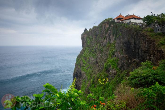 Una vista del templo de Uluwatu