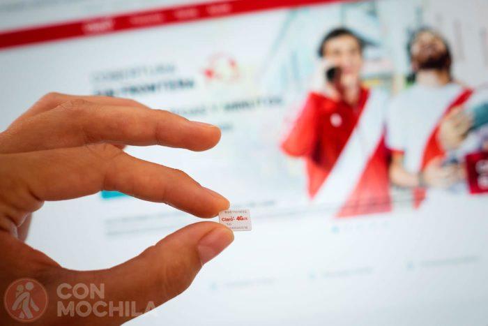 Tarjeta SIM internet Claro Perú