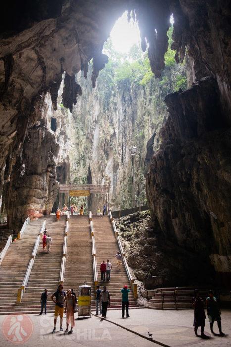 Interior de la gran cueva