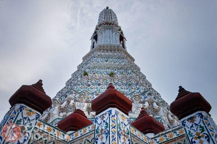 Una de las torres del templo