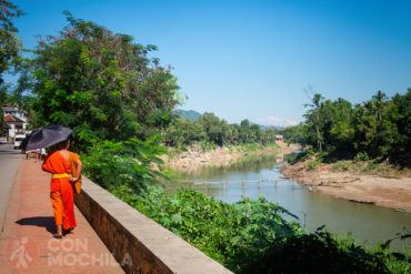 Puente de bambu Luang Prabang
