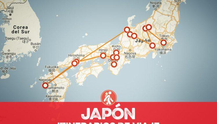 Itinerarios de viaje a Japón para mochileros o viajeros por libre