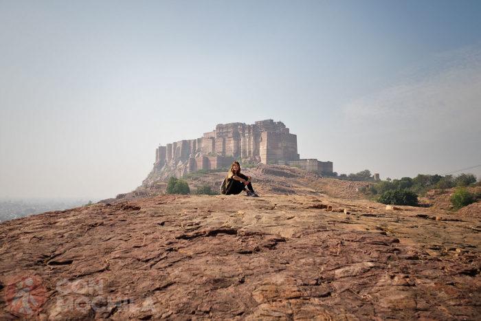 Jodhpur, con el fuerte Mehrangarh al fondo