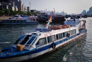 Guía de viaje Bahía de Halong Ban Sen Island ferry