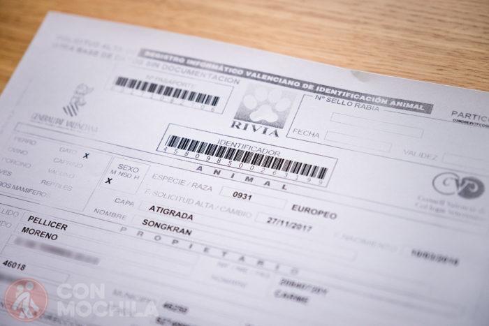 Certificado del microchip
