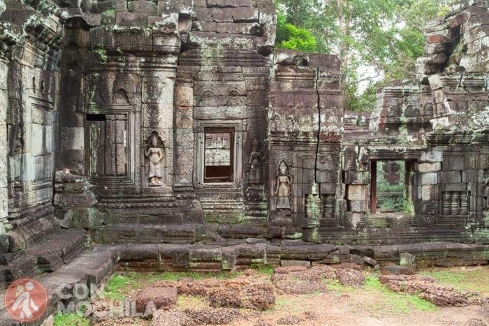 Zona del exterior del templo Banteai Kdei