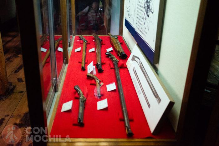 Algunas de las armas utilizadas en su día