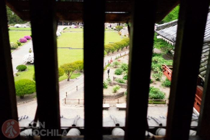 Vistas de los jardines desde arriba