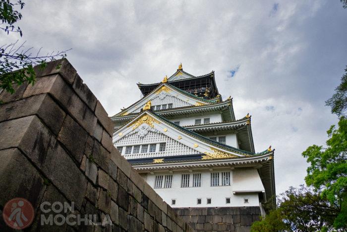 Otra vista del castillo de Osaka