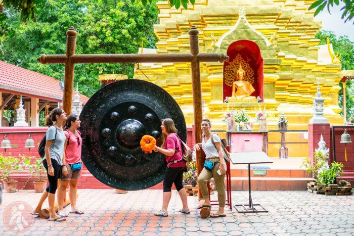Sara, Mariajo y Ester comodísimas en Chiang Mai
