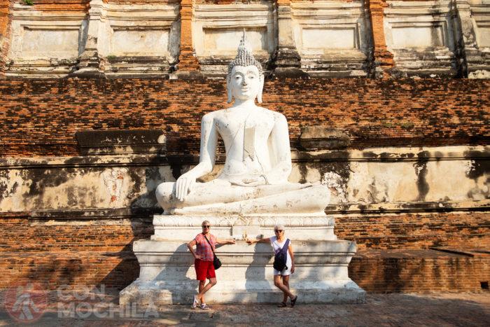Carme y Fonfri luciendo unos pantalones cortos en Tailandia. ¡Maravillosas!