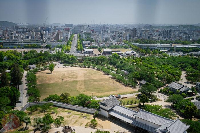 Vista de Himeji desde el castillo