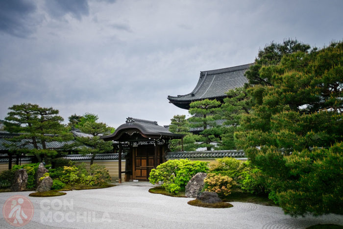 Una de las zonas zen del templo Kennin-Ji