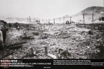 Nagasaki después de la explosión de la bomba