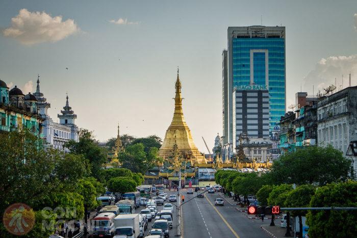 Sule Pagoda en Yangón