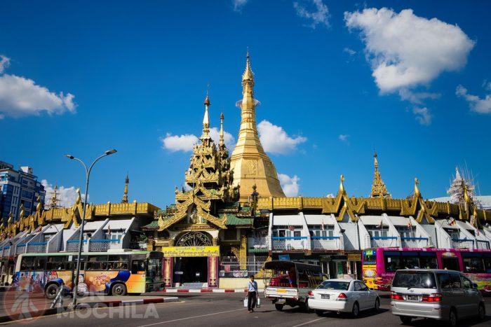 La pagoda Sule en la actualidad