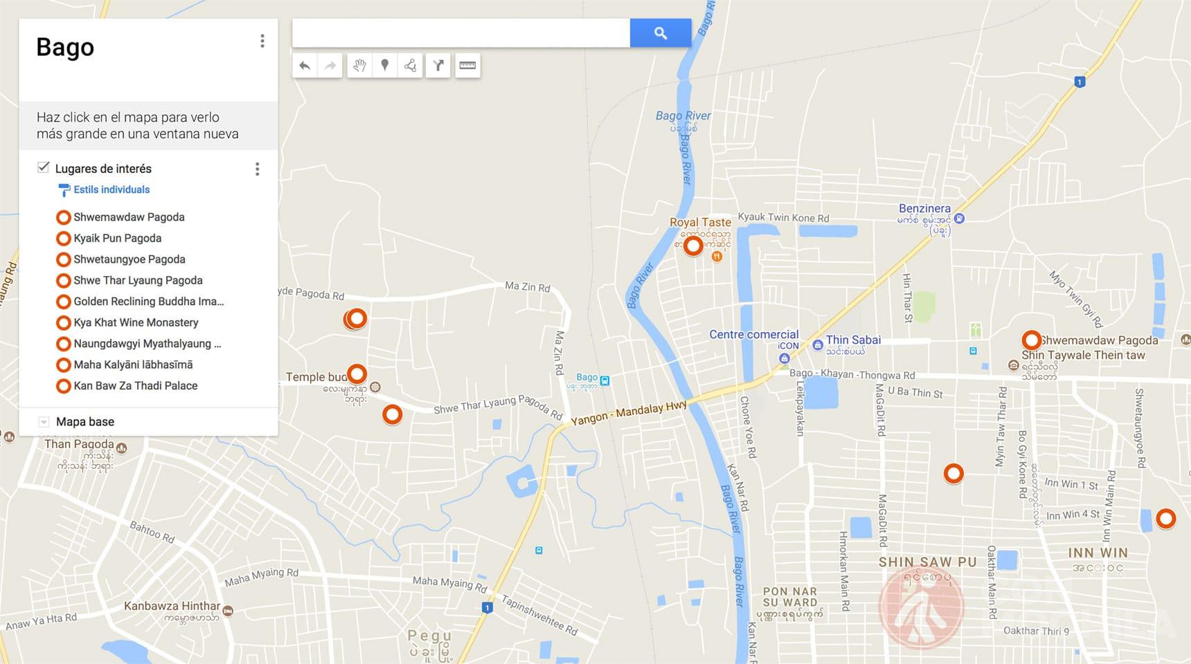 Mapa de Bago