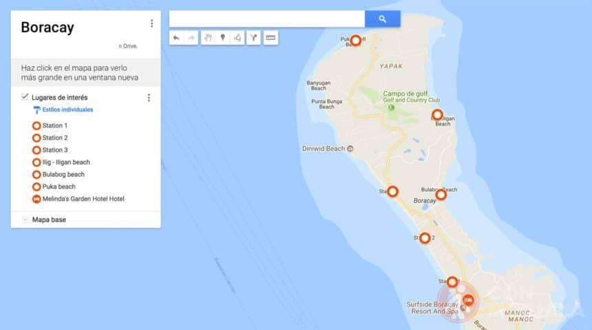 Mapa de Boracay