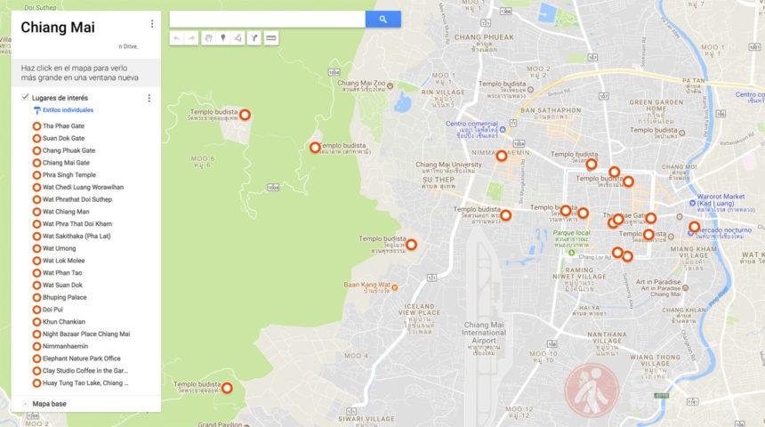 Mapa de Chiang Mai