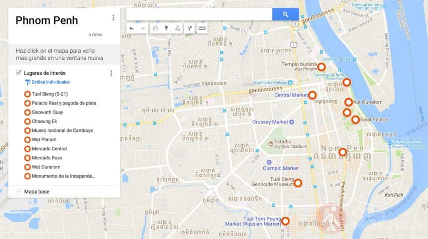Mapa de Phnom Penh