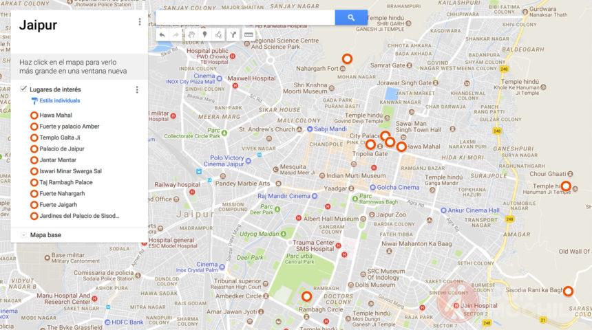 Mapa de Jaipur