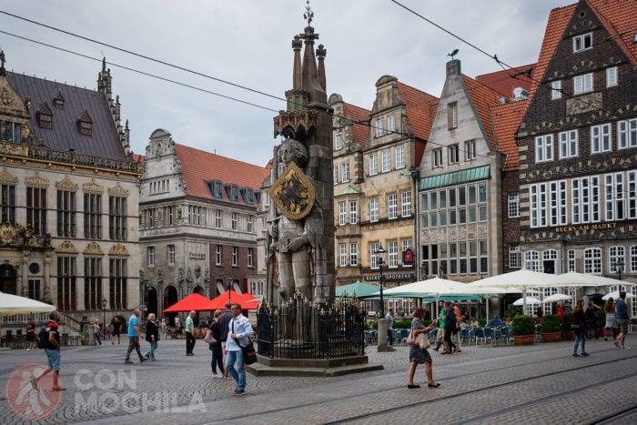 Edificios del oeste de la Marktplatz de Bremen