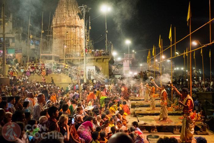 El ganga arti en Varanasi